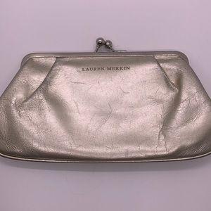 Lauren Merkin Vintage Clutch Bag Metallic Gold